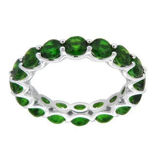 Pearlz Ocean Sterling Silver Chrome Diopside Eternity Band