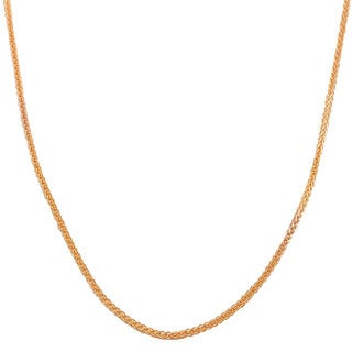 Fremada 14k Rose Gold 1-mm Square Wheat Chain