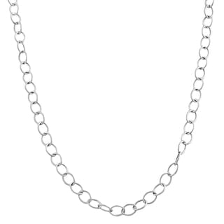 Fremada 14k White Gold 4-mm Super Light Rolo Chain