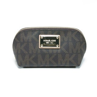 MICHAEL Michael Kors Jet Set Medium Brown Cosmetic Case