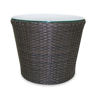 Wave Espresso Round Outdoor Side Table