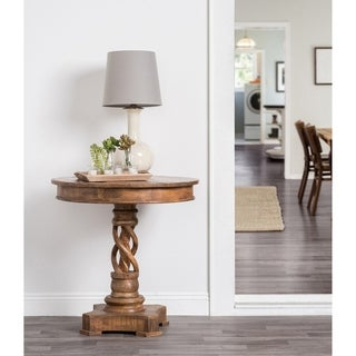 Kosas Home Bella 30-inch Round Handcrafted Acacia Wood Accent Table