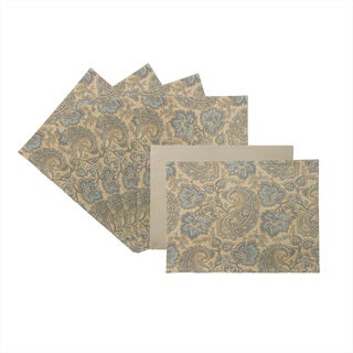 Rose Tree Blue Lyon 18-inch Place Mats (Set of 6)