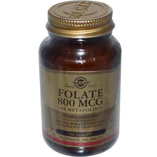 Solgar Folate (Metafolin) 800 Mcg (100 Tablets)