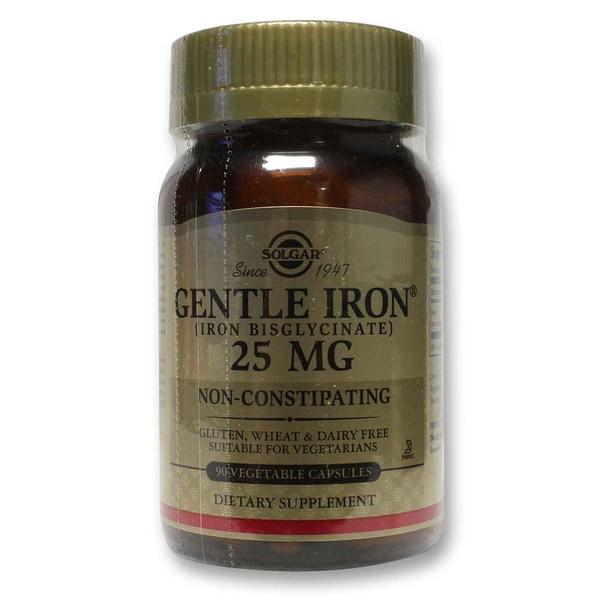 Solgar Gentle Iron 25 mg Veggie Caps (90 Count)