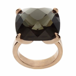 NEXTE Jewelry Rose Goldtone Grey Glass Solitaire Ring