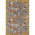 Allie Handmade Abstract Gold Wool Rug (5' x 7'6)