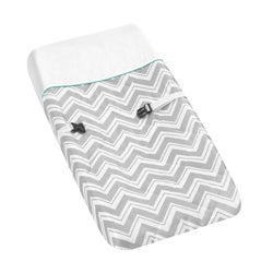 Sweet JoJo Designs Turquoise Zig Zag Changing Pad Cover