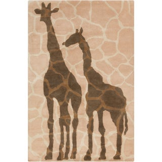 Allie Handmade Giraffe Design Wool Rug (5' x 7'6)