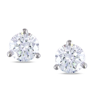 Miadora 18k White Gold 1 7/8ct TDW Certified Diamond Stud Earrings (H-I, SI2)