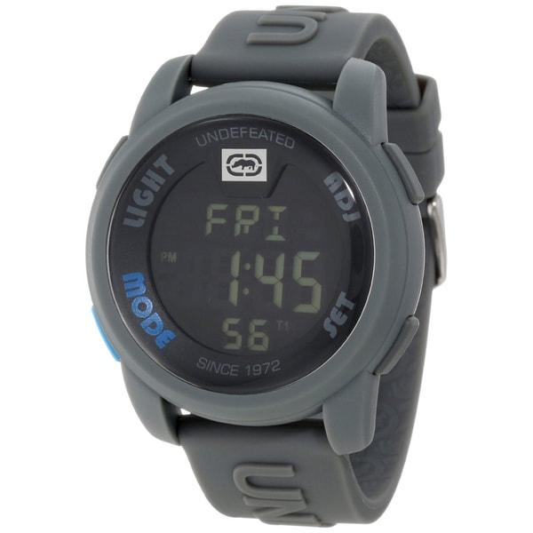 Marc Ecko Men's Grey Silicone Digital Watch