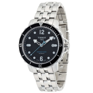 Tissot Men's 'SeaStar' Automatic Rubber Strap Dive Watch