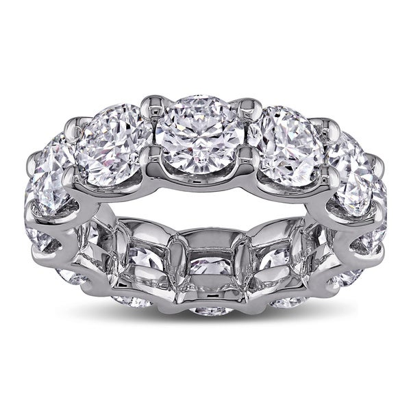 Miadora 18k White Gold 8 1/2ct TDW Diamond Eternity Anniversary Ring (G-H, I1-I2)