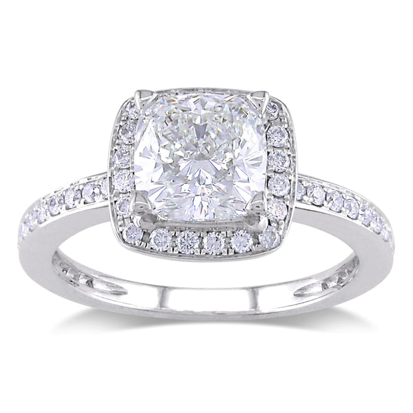 Miadora 14k White Gold 2ct TDW Diamond Engagement Ring (I-J, SI1-SI2)