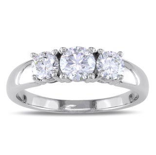 Miadora 14k White Gold 1 1/6ct TDW Diamond 3-stone Ring (G-H, SI1-SI2)
