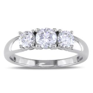 Miadora 14k White Gold 1 1/6ct TDW Diamond 3-stone Ring (G-H, SI1-SI2)