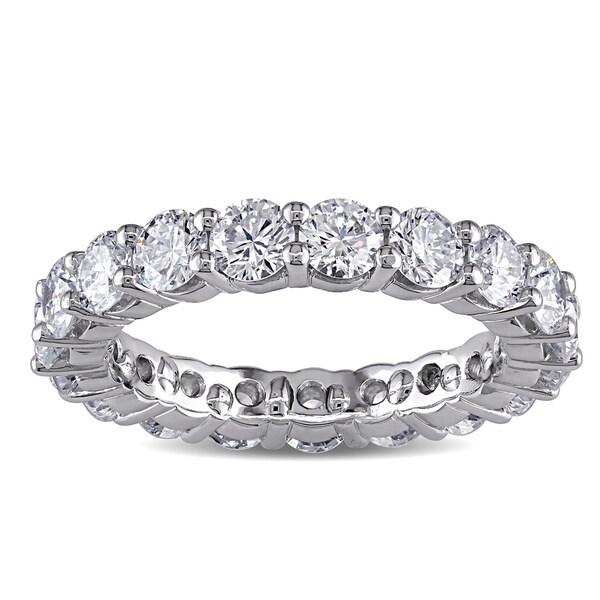 Miadora Platinum 3ct TDW Diamond Eternity Ring (F, VVS)