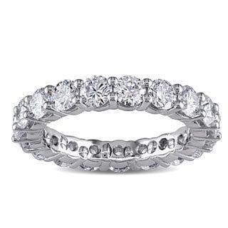 Miadora Signature Collection Miadora Platinum 3ct TDW Diamond Eternity Ring (F, VVS)