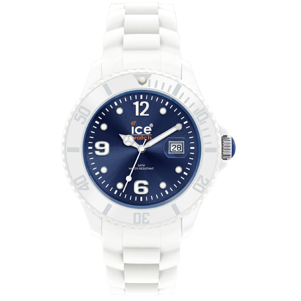 Ice-Watch Men's Dark Blue Dial White Strap Watch