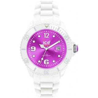 Ice-Watch Men's White/ Purple Silicone Strap Watch