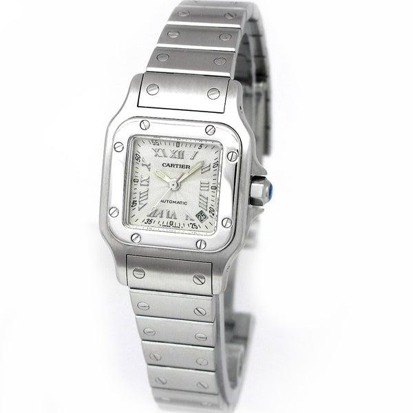 Pre-Owned Cartier Women's 'Santos Galbee' Silver Dial Watch