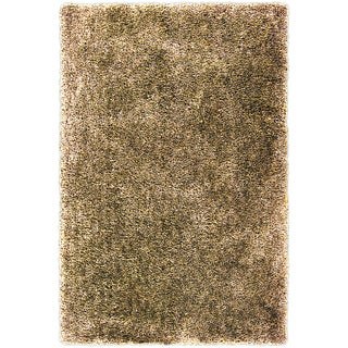 Hand-tufted Alburgh Gold Soft Plush Shag Rug (3'3 x 5'3)