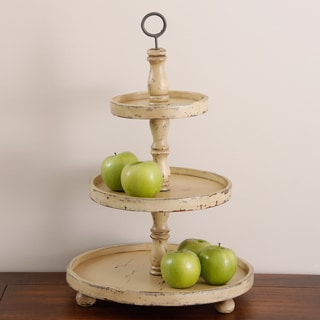 Antiqued Wood 3-tier Fruit Stand (Indonesia)