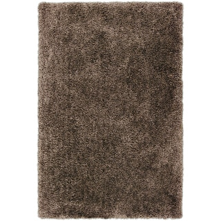 Hand-tufted Averill Brown Soft Plush Shag Rug (8' x 10'6)