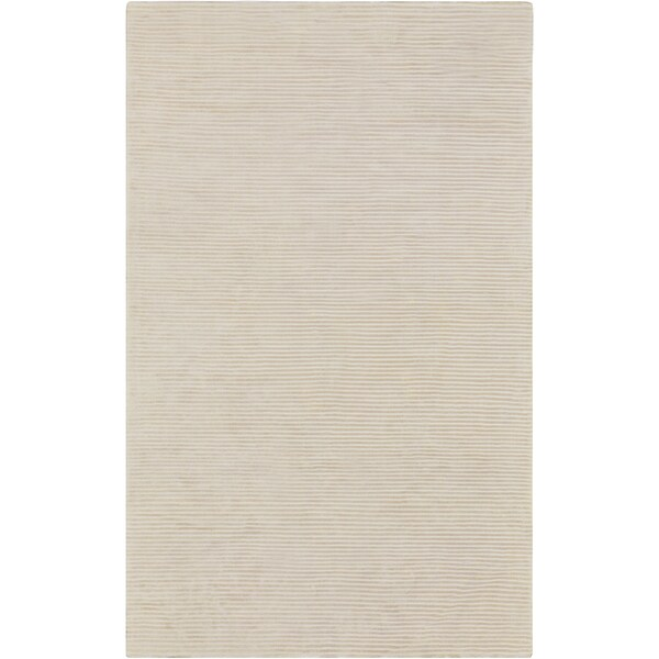 Hand-crafted Ivory Solid Causal Calais Rug (8' x 11')