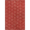Allie Handmade Floral Red Wool Rug (5' x 7'6)