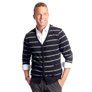 Black 191 Unlimited Men's Striped Cardigan