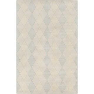 Allie Handmade Geometric Indoor Wool Rug (5' x 7'6)