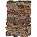 Hand-tufted Halifax Orange Novelty Wool Rug (2' x 3')