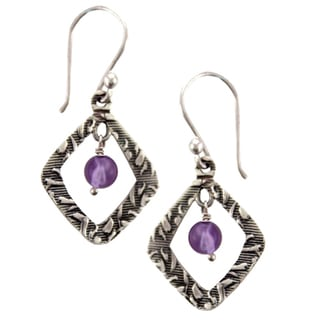 Sterling Silver Amethyst Completion Earrings (Nepal)