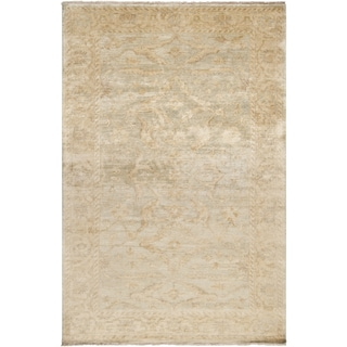 Hand-knotted Stowe Beige Wool Rug (5'6 x 8'6)