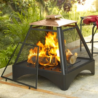 Pagoda Fireplace with Copper Roof