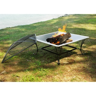 33-inch Square Steel Fire Bowl