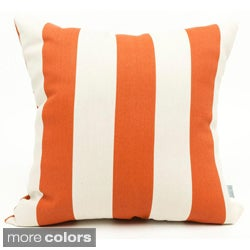 Majestic Home Goods Vertical Stripe Large Square Pillow