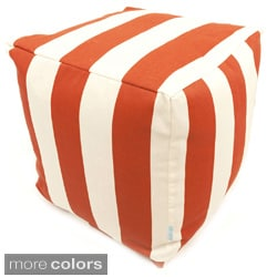 Majestic Home Goods Vertical Stripe Small Cube Pillow