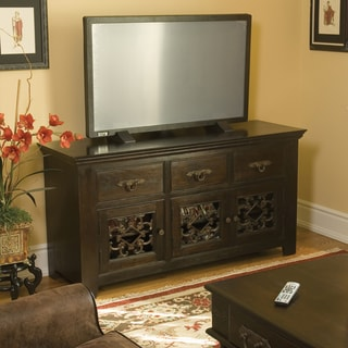 Venice Dark Mahogany 3-drawer/ 3-door TV Stand