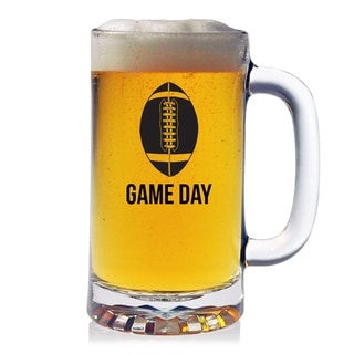 Football Game Day 16-ounce Pub Beer Mugs (Set of 4)