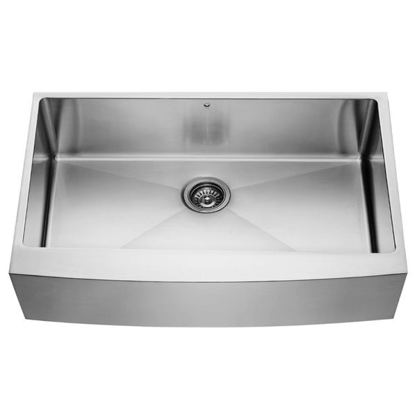 36 Inch Farm Sink : 36-inch Farmhouse Stainless Steel 16 Gauge Single Bowl Kitchen Sink ...