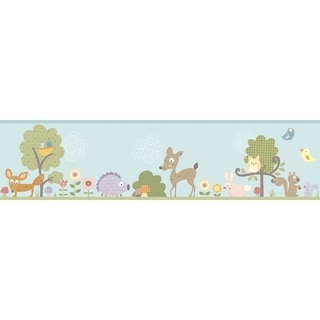 Woodland Animals Peel & Stick Border Wall Decal