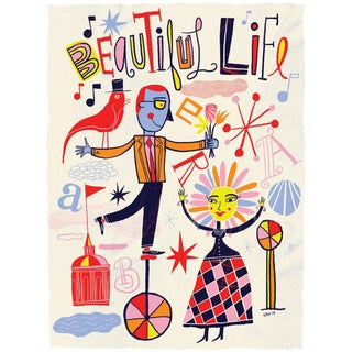 Nate Williams 'Beautiful Life'  Paper Print (Unframed)