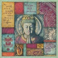 Stephanie Marrott 'Buddha Tapestry III'  Paper Print (Unframed)