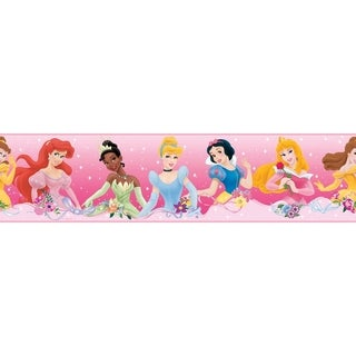Disney Princess Dream from the Heart Pink Peel & Stick Border Wall Decal