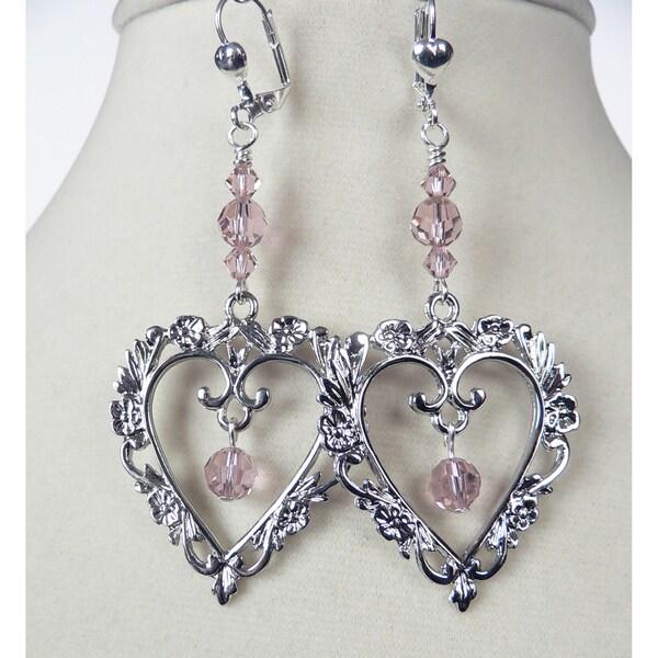 'Hermione' Heart Dangle Earrings
