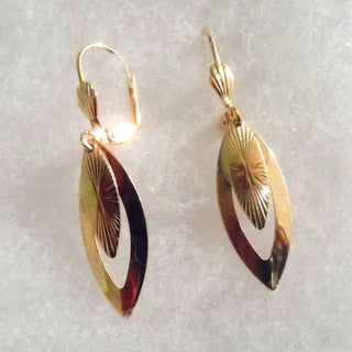 Ann Marie Lindsay Triple Layer Gold Double Design Earrings