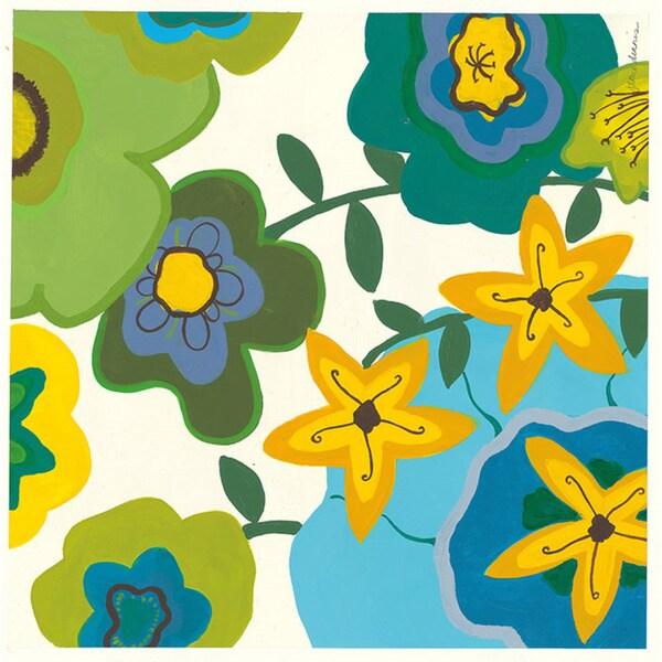 Jamie Dennis 'Funky Floral I' Paper Print (Unframed)