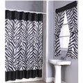 Zebra Print Shower Curtain Set and 4-piece Window Set